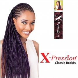 X-Pression Braid color 1 Jet Black