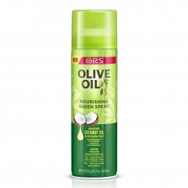 Organic olive oil sheen spray
