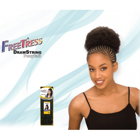 FREE TRESS PONYTAIL AFRO 5