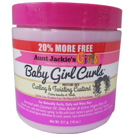 Aunt Jackie's Girls Baby Girl Curls custard